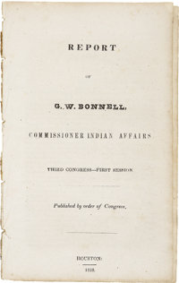 Report of G. W. Bonnell, Commissioner Indian Affairs, Third Congress - First Session