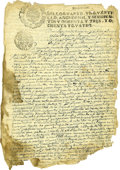 Autographs:Non-American, Agustin de Echeverz y Subisa, the First Marques de San Miguel deAguayo, Manuscript Document Signed....
