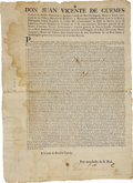 Books:Early Printing, [Broadside] Conde de Revilla Gigedo, Don Juan Vicente de GuemesPacheco de Padilla Horcasitas y Aguayo: ...