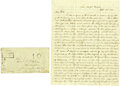 Military & Patriotic:Foreign Wars, David Duff Autograph Letter Signed with Transmittal Envelope. ...