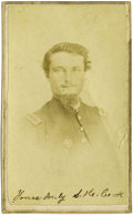 Military & Patriotic:Indian Wars, Signed CDV Photograph of Captain S. H. Cook, Sand Creek Massacre,ca. 1860s. ...