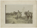 Military & Patriotic:Indian Wars, Imperial Size Photograph of Nez Perce Indians in Camp, ca. 1890s....