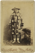 "Western Expansion:Indian Artifacts, Cabinet Card Photograph ""Chief Moses"" (The Sun Chief), ca. 1880s...."