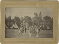 Military & Patriotic:Indian Wars, Imperial Size Photograph of Two Nez Perce/Umatilla Indian Chiefs in Camp, ca. 1880s....