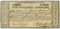 Western Expansion:Cowboy, Consolidated Fund of Texas Certificate, ca. 1837....