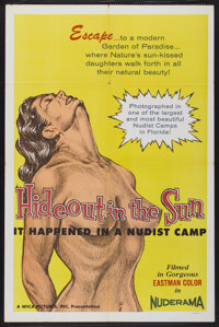 """Hideout in the Sun (Astor Pictures Corporation, 1960). One Sheet (27"""" X 41""""). Adult"""
