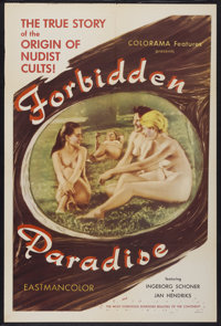 """Forbidden Paradise (1958) (Colorama, 1958). One Sheet (27"""" X 41""""). Adult"""