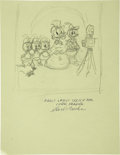 Original Comic Art:Covers, Carl Barks - Carl Barks Library Volume 8 Preliminary Cover SketchOriginal Art (Another Rainbow, 1983)....