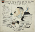 Original Comic Art:Illustrations, New Year's Cartoon Specialty Illustration Original Art (1923)....
