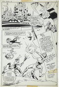 Original Comic Art:Splash Pages, Don Newton and Dan Adkins - New Gods #14, Splash Page 3 OriginalArt (DC, 1977)....