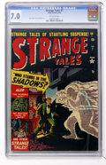 Golden Age (1938-1955):Horror, Strange Tales #7 (Marvel, 1952) CGC FN/VF 7.0 Off-white pages....