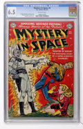 Golden Age (1938-1955):Science Fiction, Mystery in Space #4 (DC, 1951) CGC FN+ 6.5 Off-white pages....