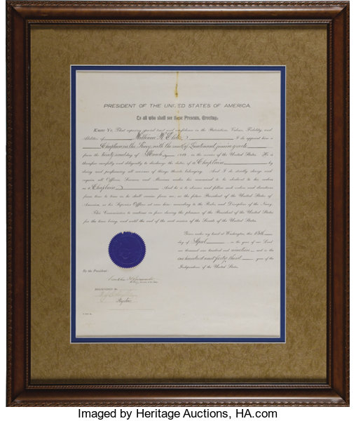 Franklin D  Roosevelt: Signed Appointment as Acting