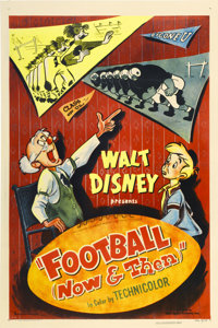 "Football Now and Then (RKO, 1953). One Sheet (27"" X 41"")"