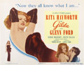 "Movie Posters:Film Noir, Gilda (Columbia, 1946). Title Lobby Card (11"" X 14"")...."