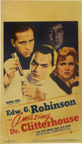 "Movie Posters:Crime, The Amazing Dr. Clitterhouse (Warner Brothers, 1938). Midget WindowCard (8"" X 14"")...."