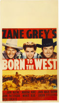 "Movie Posters:Western, Born to the West (Paramount, 1937). Midget Window Card (8"" X 14"")...."