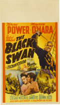 "Movie Posters:Adventure, The Black Swan (20th Century Fox, 1942). Midget Window Card (8"" X14"")...."