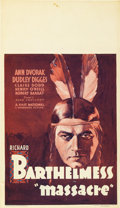 "Movie Posters:Western, Massacre (First National, 1934). Midget Window Card (8"" X 14"")...."