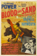 "Movie Posters:Drama, Blood and Sand (20th Century Fox, 1941). One Sheet (27"" X 41"")Style B...."