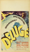 "Movie Posters:Drama, Deluge (RKO, 1933). Midget Window Card (8"" X 14"")...."