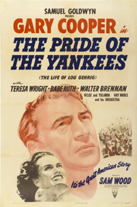 "The Pride of the Yankees (RKO, 1942). One Sheet (27"" X 41"")"