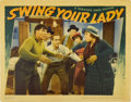 """Movie Posters:Comedy, Swing Your Lady (Warner Brothers, 1938). Lobby Card (11"""" X 14"""")...."""
