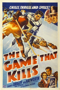"The Game that Kills (Columbia, 1937). One Sheet (27"" X 41"")"