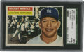 Baseball Cards:Singles (1950-1959), 1956 Topps Mickey Mantle #135 SGC 80 EX/NM 6. With outstanding gloss and color retention this important Mantle card will sur...