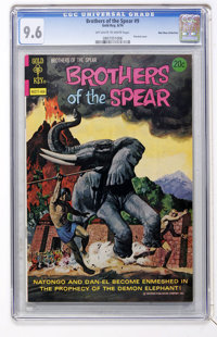 Brothers of the Spear #9 Don Rosa Collection pedigree (Gold Key, 1974) CGC NM+ 9.6 Off-white to white pages