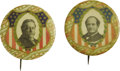 "Political:Pinback Buttons (1896-present), Bryan & Taft: A Pair of Gorgeous 1¾"" Buttons from the 1908Campaign...."