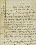 Autographs:Military Figures, General Robert Patterson Mexican War-dated Autograph Letter Signedto His Nephew....