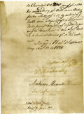 Autographs:Non-American, Gaspar López Manuscript Document Signed....