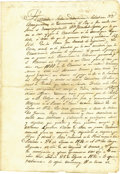 Autographs:Non-American, Juan Antonio Padilla True Copy of Ferdinand VII Decree Allocatingthe Budget for the Government of Ultramar. ...