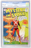 Silver Age (1956-1969):Science Fiction, Mystery in Space #82 (DC, 1963) CGC NM- 9.2 White pages....