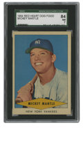 Baseball Cards:Singles (1950-1959), 1954 Red Heart Mickey Mantle SGC 84 NM 7. While this card comesfrom an unconventional issue released in 1954 by Red Heart ...