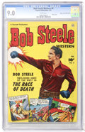 Golden Age (1938-1955):Western, Bob Steele Western #8 Mile High pedigree (Fawcett, 1952) CGC VF/NM 9.0 White pages....