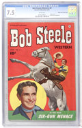 Golden Age (1938-1955):Western, Bob Steele Western #4 Mile High pedigree (Fawcett, 1951) CGC VF- 7.5 White pages....