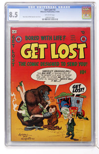 Get Lost #2 (Mikeross Publications, 1954) CGC VF+ 8.5 Off-white pages