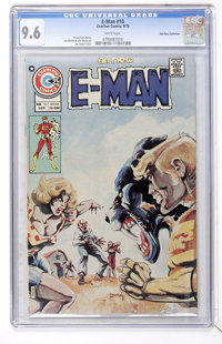 E-Man #10 Don Rosa Collection pedigree (Charlton, 1975) CGC NM+ 9.6 White pages