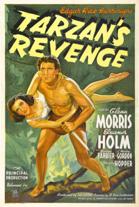 "Tarzan's Revenge (20th Century Fox, 1938). One Sheet (27"" X 41"")"