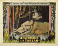 "Movie Posters:Serial, The Adventures of Tarzan (Numa, 1921). Lobby Card (11"" X 14"")...."