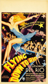 "Flying Down to Rio (RKO, 1933). Midget Window Card (8"" X 14"")"