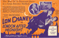 "Movie Posters:Horror, London After Midnight (MGM, 1927). Herald (6""X 9"")...."