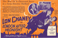 """London After Midnight (MGM, 1927). Herald (6""""X 9"""")"""