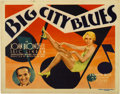 "Movie Posters:Crime, Big City Blues (Warner Brothers, 1932). Title Card and Lobby Card(11"" X 14"").... (Total: 2 Items)"