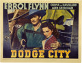 """Movie Posters:Western, Dodge City (Warner Brothers, 1938). Lobby Card (11"""" X 14"""")...."""