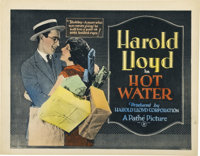 "Hot Water (Pathé, 1924). Title Card and Lobby Card (11"" X 14"").... (Total: 2 Items)"