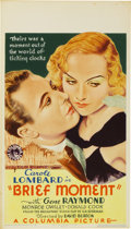 "Movie Posters:Drama, Brief Moment (Columbia, 1933). Midget Window Card (8"" X 14"")...."