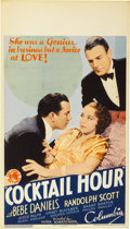 "Movie Posters:Drama, Cocktail Hour (Columbia, 1933). Midget Window Card (8"" X 14"")...."